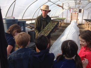 Douglas Park kids visiting greenhouse