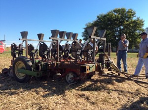 Another angle of completed precision cover crop planter