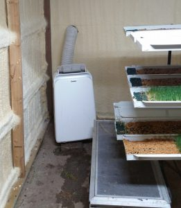 3 in 1 heater/AC unit keeps the building at the correct temperature.