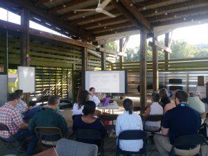 Jennifer Tsuruda talks about pollintors on the farm.