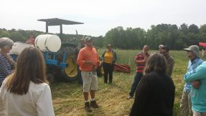 Dr. Brian Ward discusses cover crops in the field.