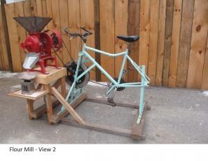 8.flour mill with bike PTO