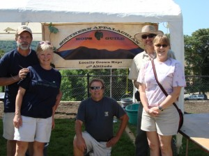 Rita and John with members of the Southern Appalachian Hops Guild Education table at the Beer City Festival 2010