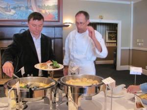 Chef Kaestner & Distributor Scott Dickenson
