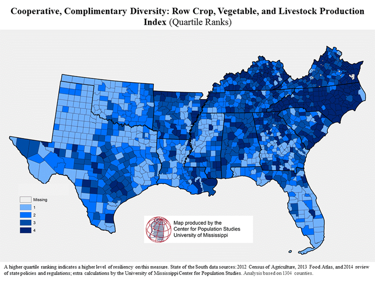 CD map of prod diversity index
