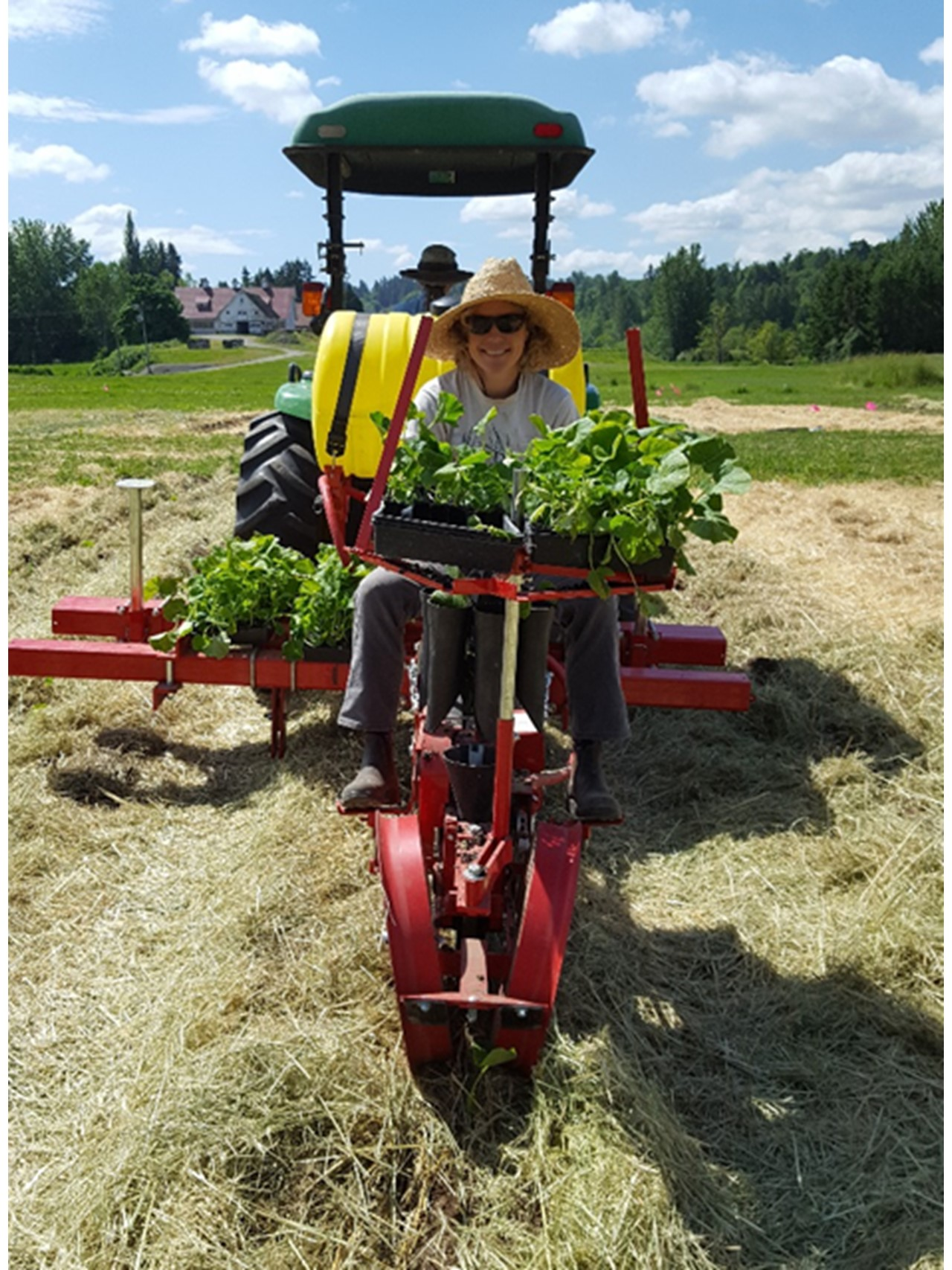 Transplanter with no-till attachment.