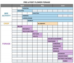 Exhibit 1 Pre and Post Flower Forage Chart