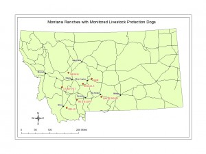 Figure 1. Montana Ranches with Monitored LPDs