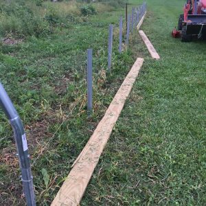 high tunnel ground posts and baseboards