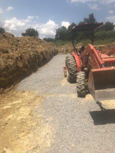 Adding gravel