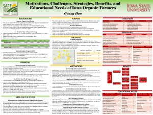 Research Poster: Motivations, Challenges, Strategies, Benefits, and Educational Needs of Iowa Organic Farmers