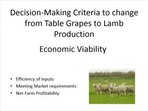 Decision Making Criteria. Manzini Farm implemented a number of criteria in this decision making process.