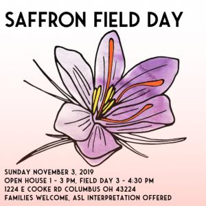 Saffron Field Day invite