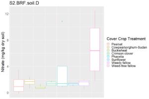 Soil N following cover crops