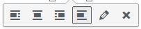 Edit media buttons