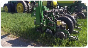 Planting corn through green cover crop