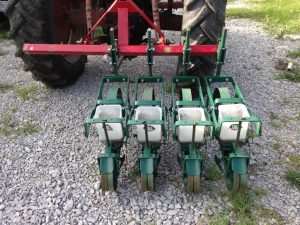 Seeders set to one side